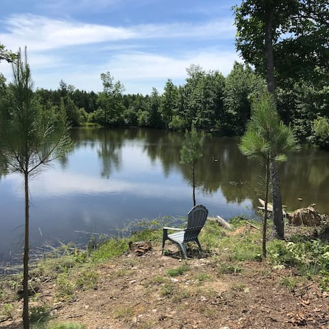 Spring-fed pond . . .