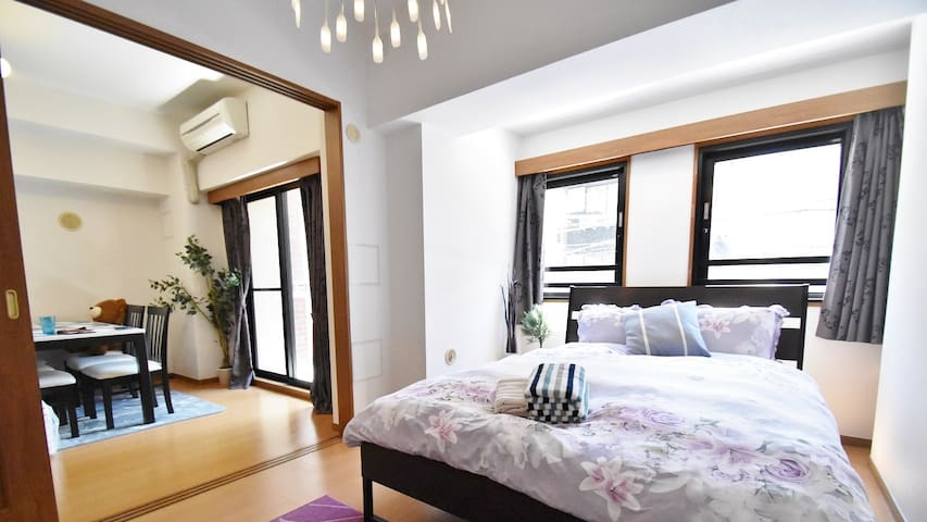 Azabu-2min Rppongi #203 (2 bed rooms & Living room)