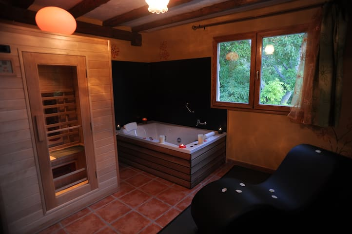 Apartamento rural con Spa privado-Roble Love Spa - Monasterio - Apartamento