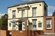 The Railway pub (200 yards away at the bottom of our street)