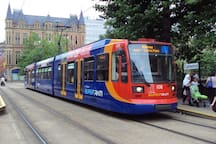 Supertram serving Meadowhall, Sheffield city centre and beyond