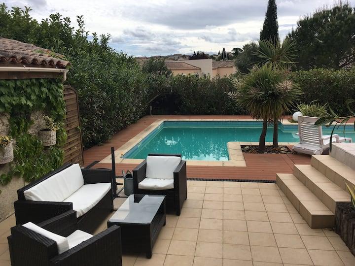 Villa avec piscine entre Cévennes et Nîmes