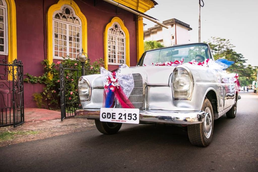 The Wedding Car awaits for the bride to be..!