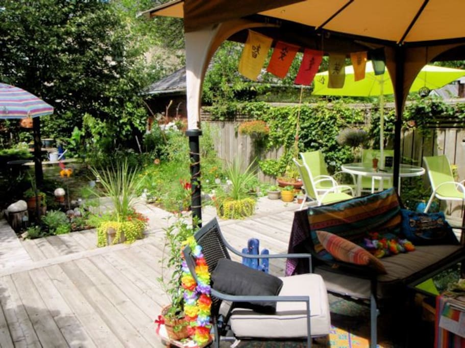 Garden is available for your use in good weather.