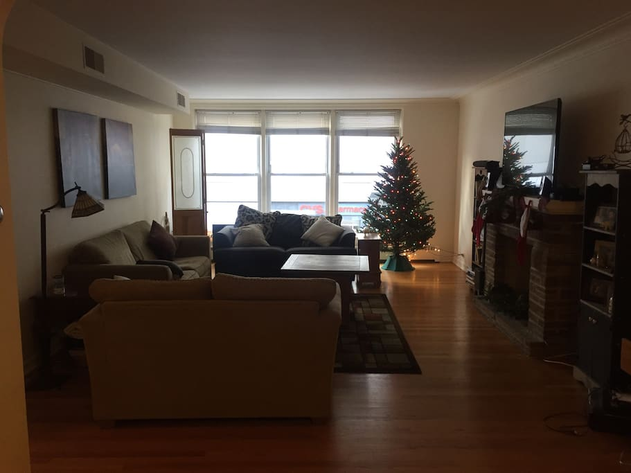 Living room. dont worry the tree wont be there
