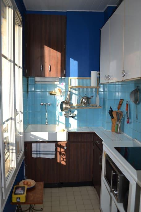 La cuisine bleue.