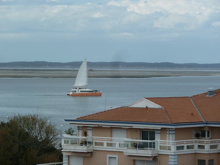 Arcachon appartement vue bassin port de plaisance