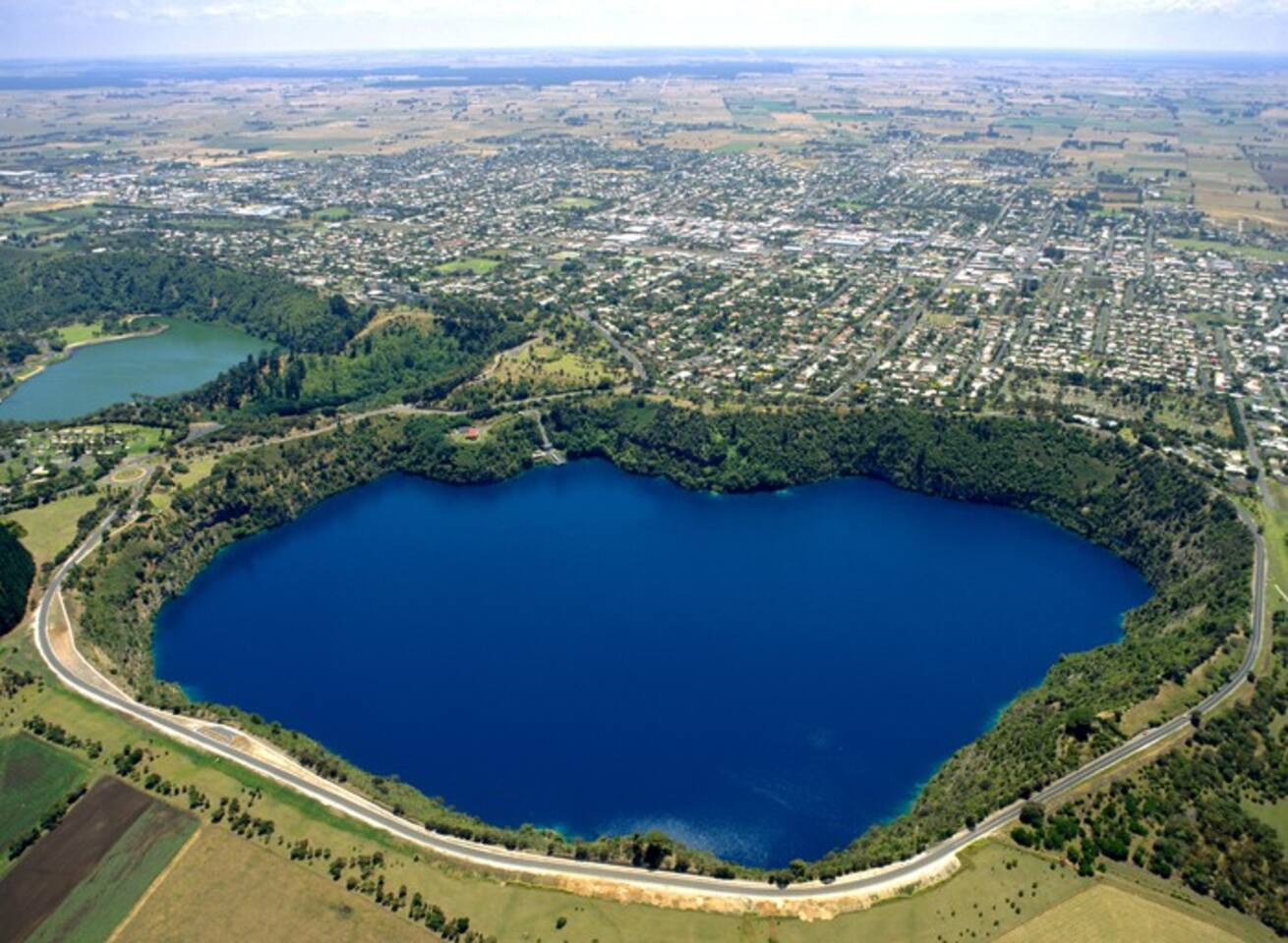Our magnificent Blue Lake, source of our drinking water.