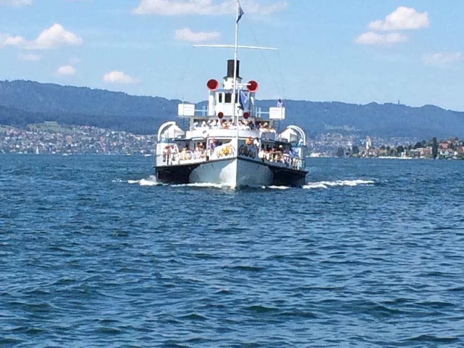 Schifffahrt nach Zürich