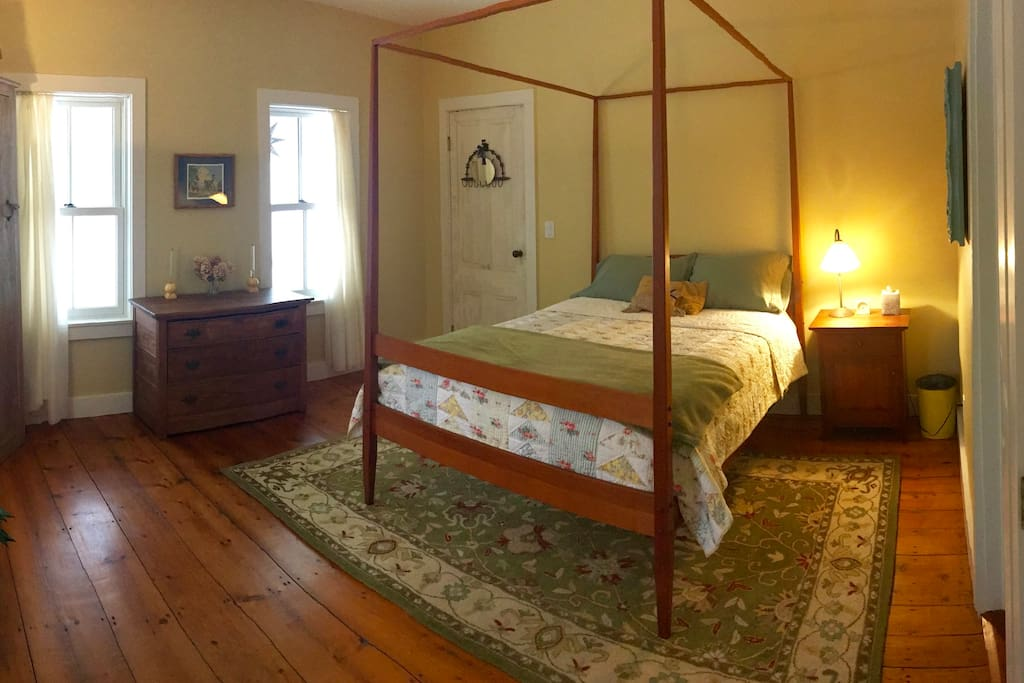 Your bedroom features a Thos. Moser cherrywood bed and early American antiques.