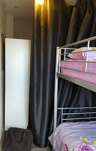 Bunk bed with balcony - Barking, England, GB