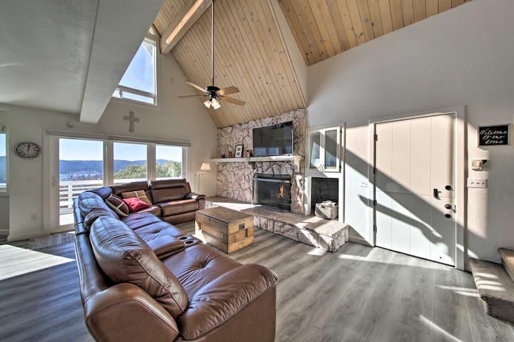 Hilltop Home w/Lake Arrowhead View & Hot Tub!