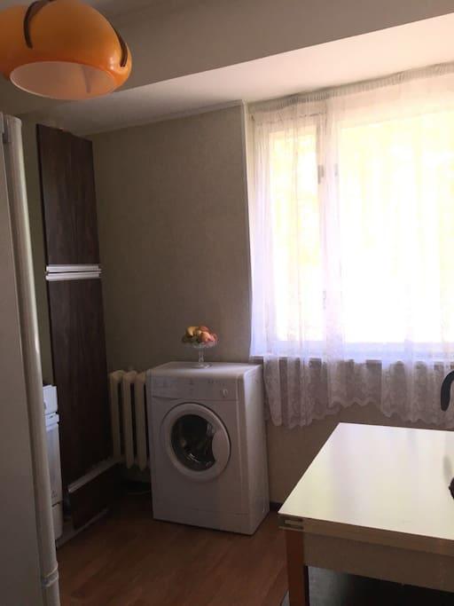 The kitchen, Washer