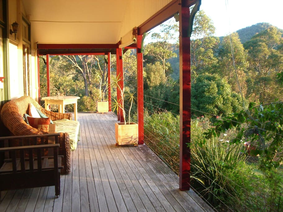 Verandah facing west.