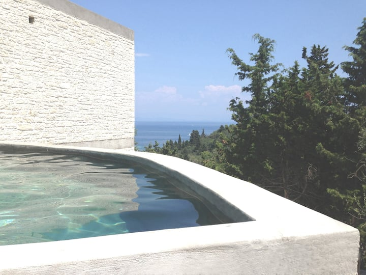 Architect-designed house, sea view