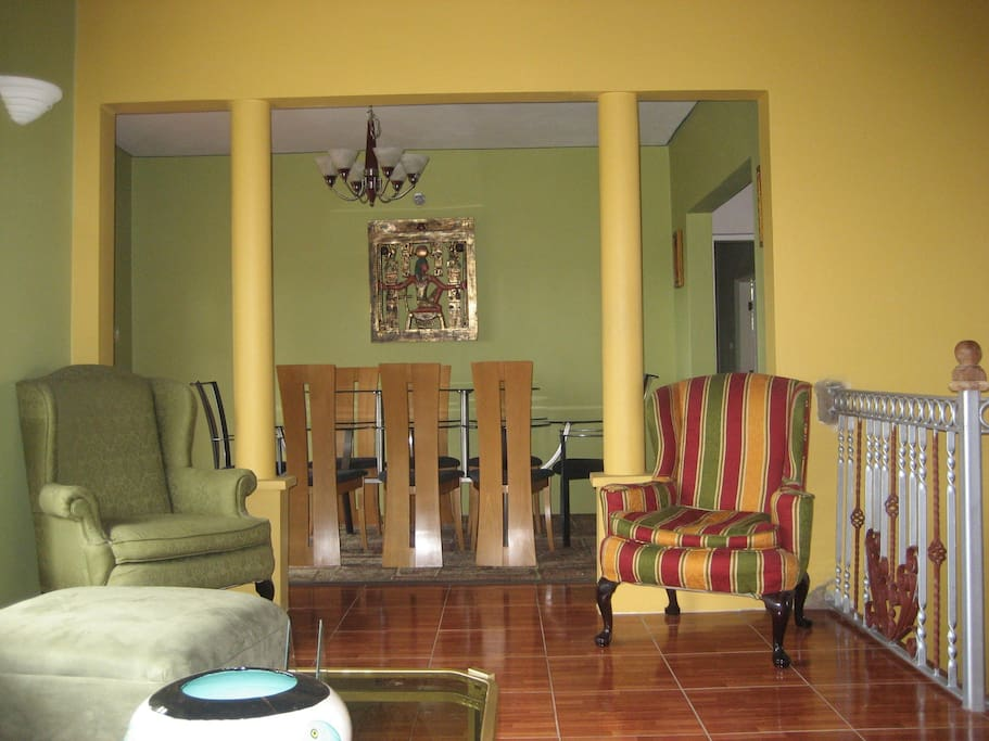 Partial view upstairs living room