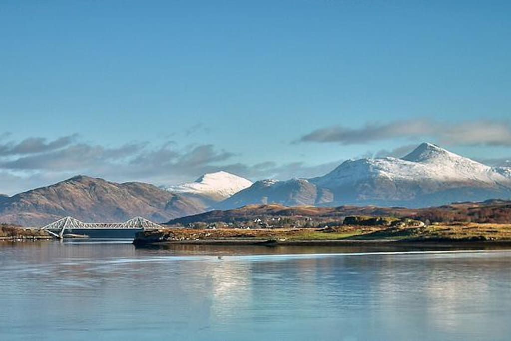 Connel Bridge with Ben Cruachan in the background