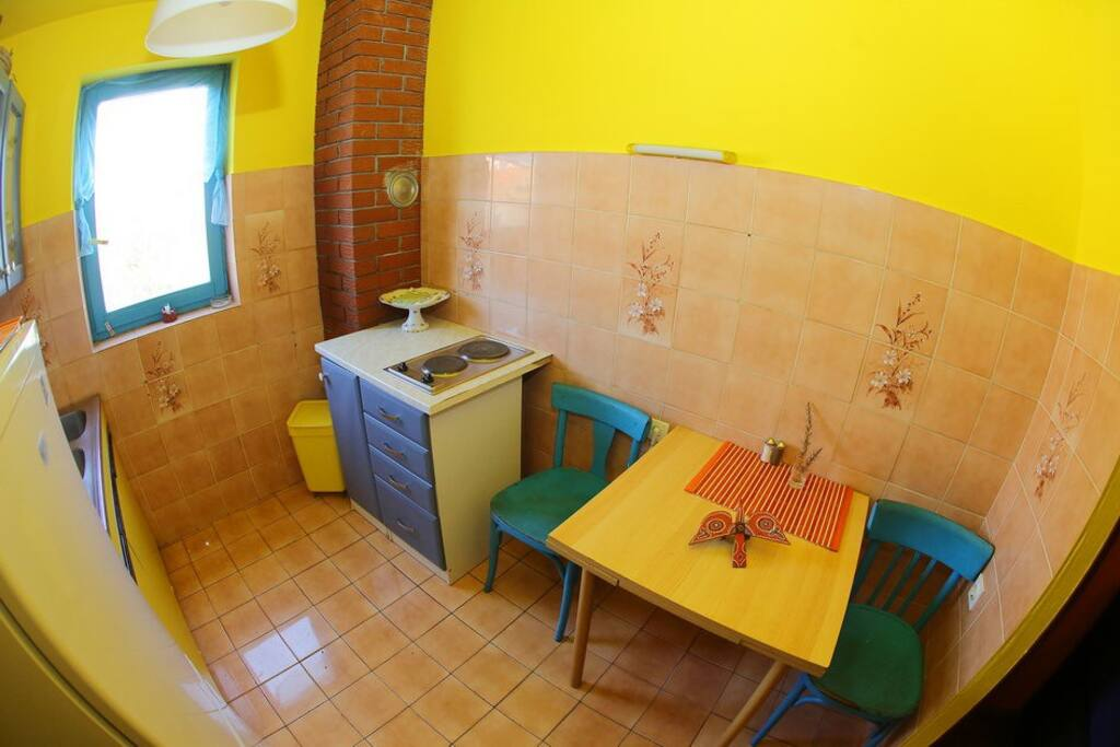 A part of kitchen in the first floor large apartment.