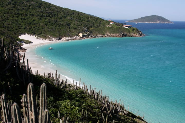 White sand beaches in 3 minutes walking distance.