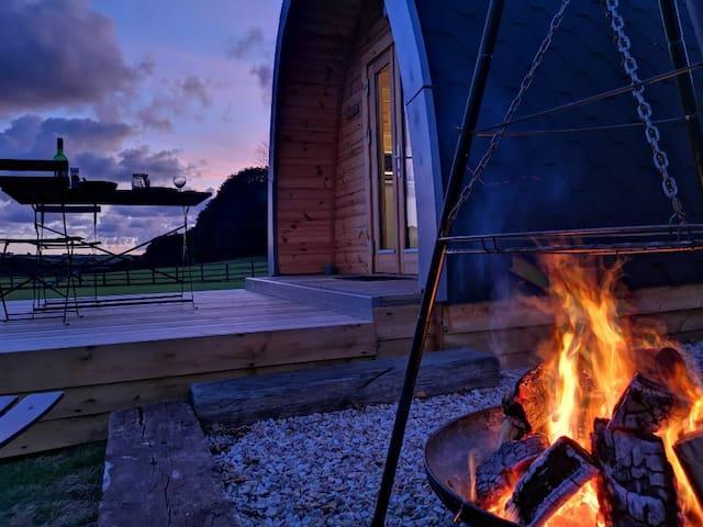 Luxury glamping pod in beautiful Cornwall