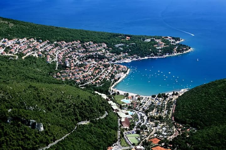 Rabac town and bay