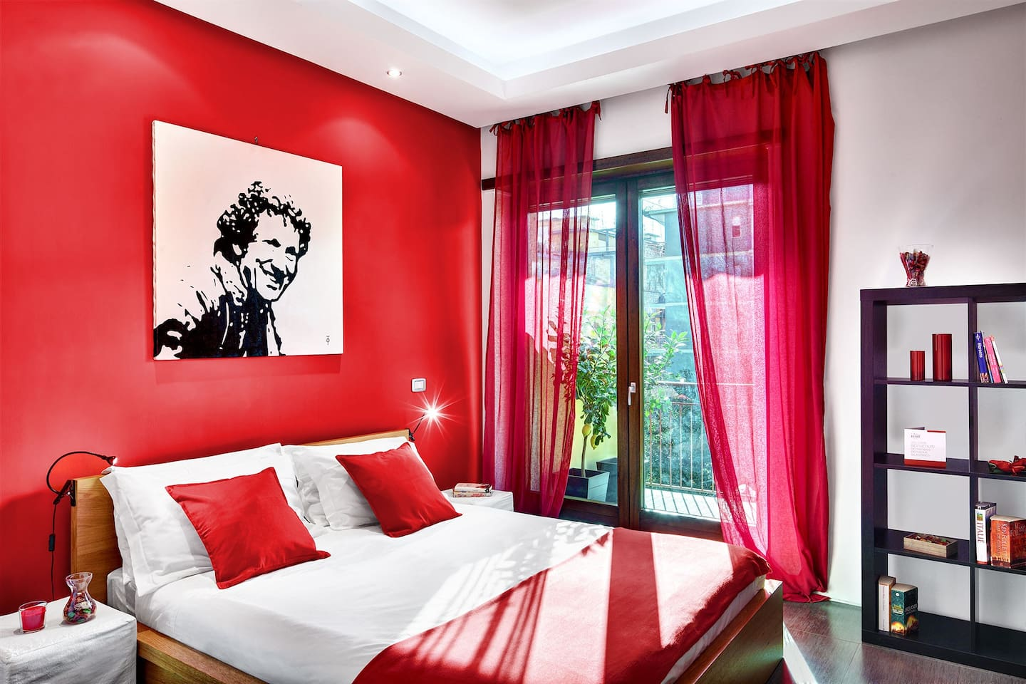 The red double bedroom