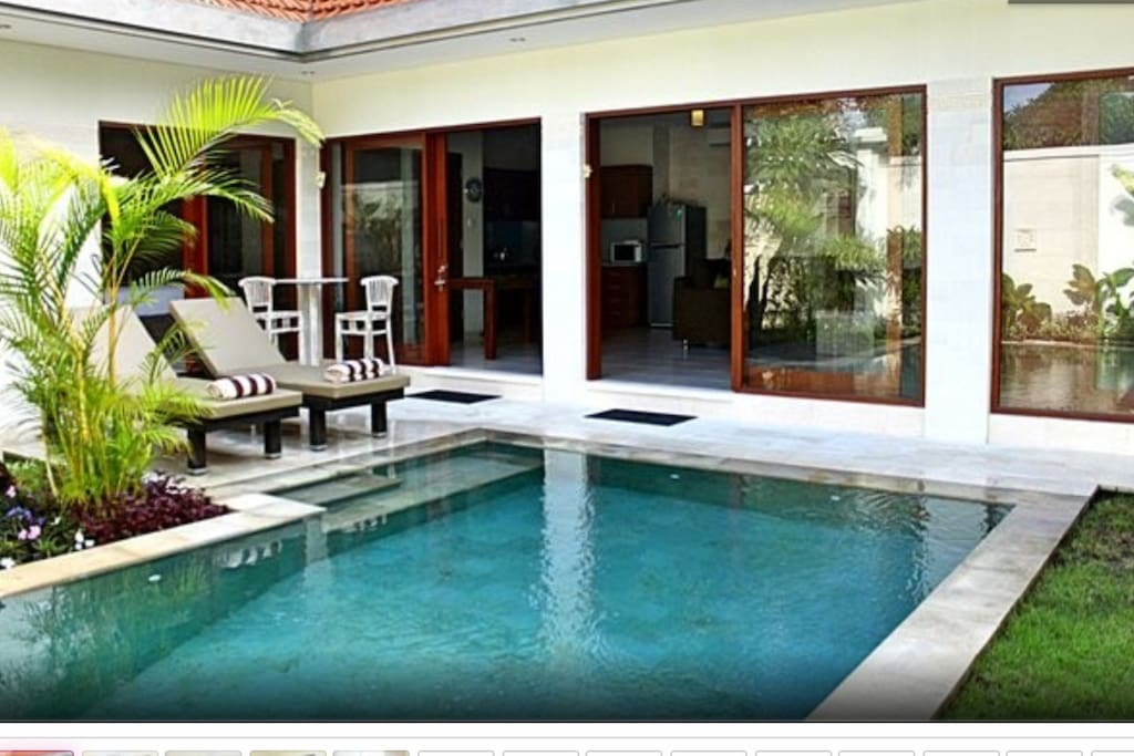Fabulous sparking private pool for your enjoyment.