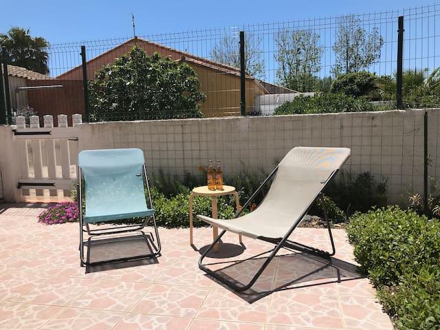 petite terrasse pour se détendre