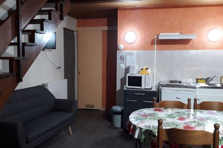 Duplex calme dans villa, prés de la ville