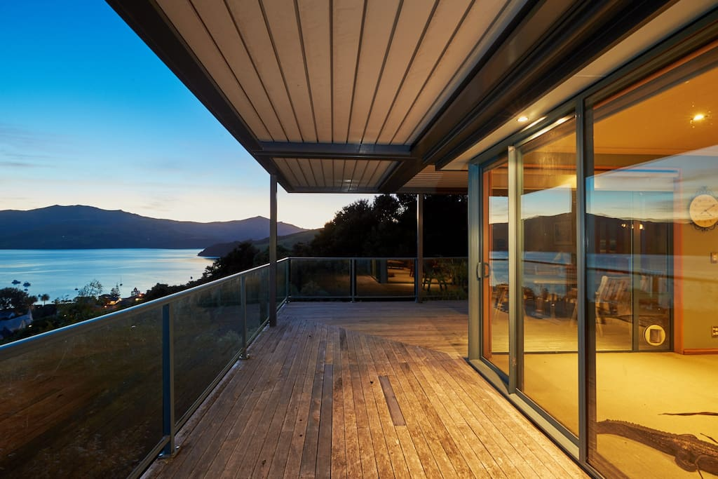 Outdoor decking with views