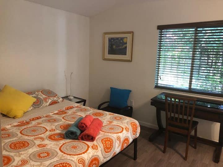 Private ,Bedroom , Bath & Private entrance .