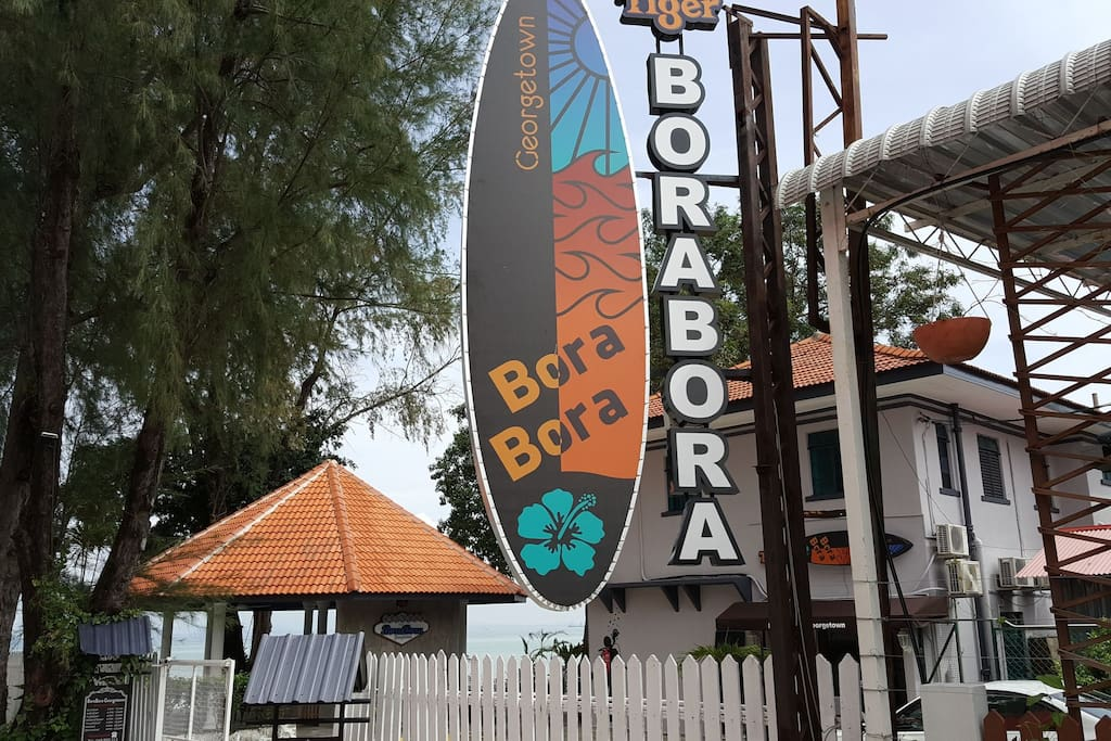 Signage and entrance to BorBora
