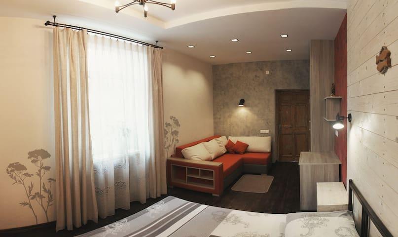Центр города, 2 комнаты, до 8 гостей