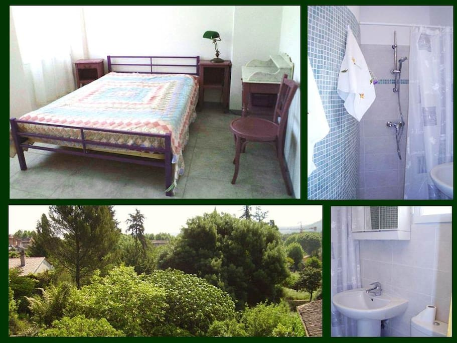 chambre calme vue jardins