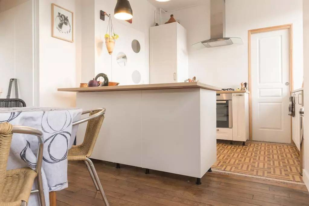 Perfectly equipped open plan kitchen