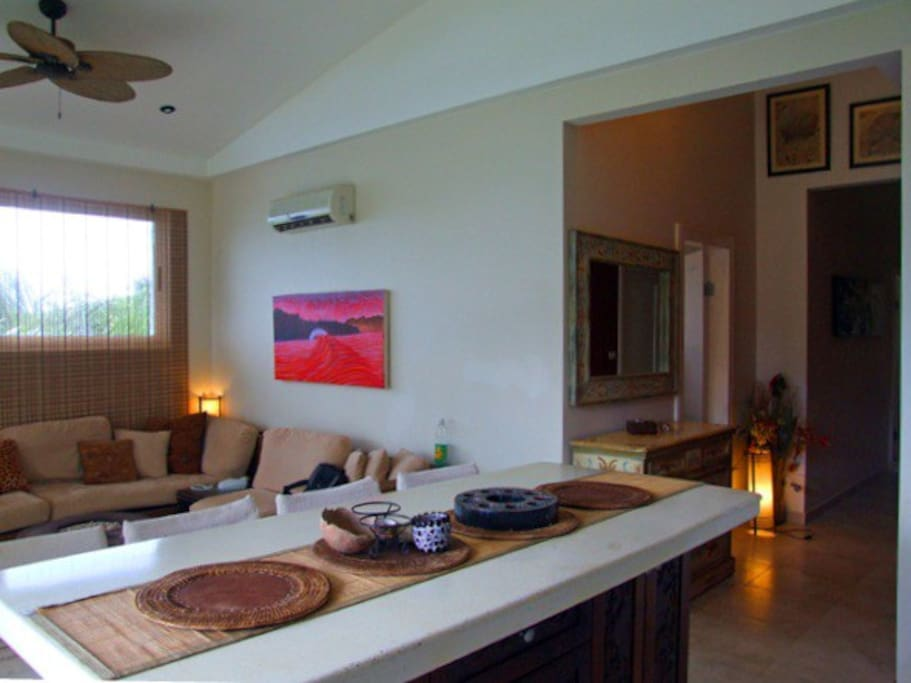 General view of kitchen/living