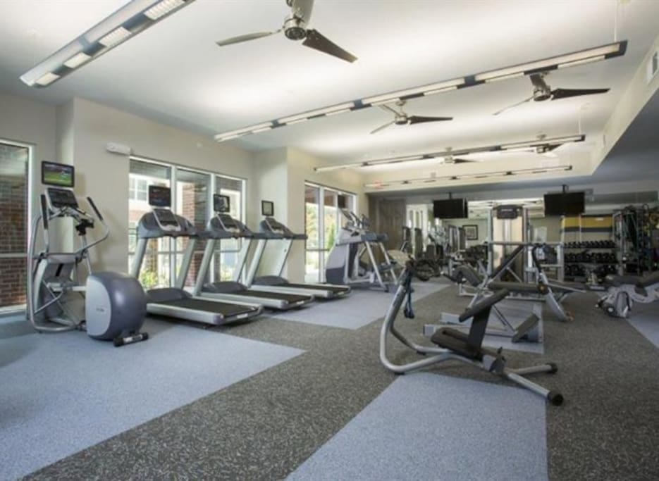 This is our spacious gym located on the first floor next to the community room.