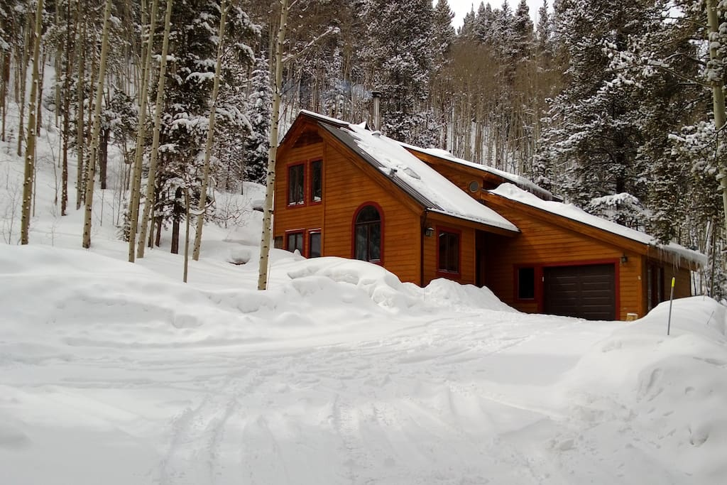 Crystal Spruce Cabin in the Winter