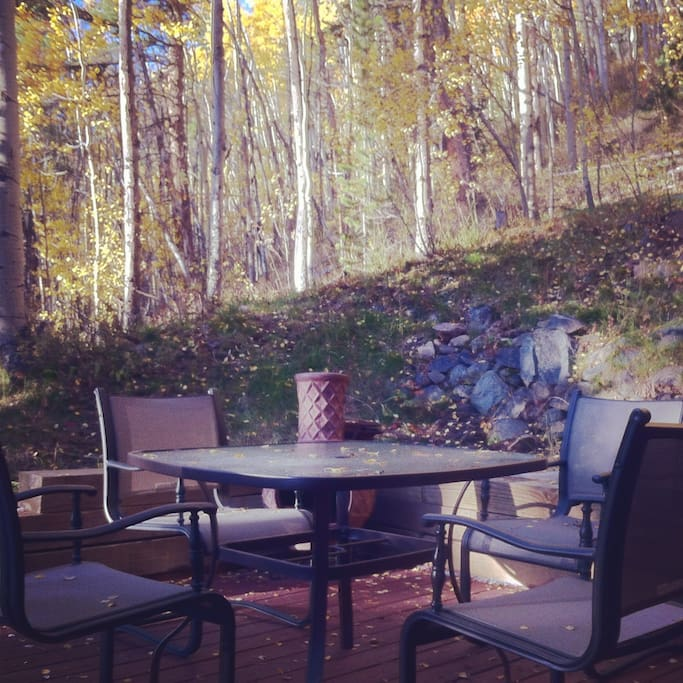Patio Overlooks National Forest Land