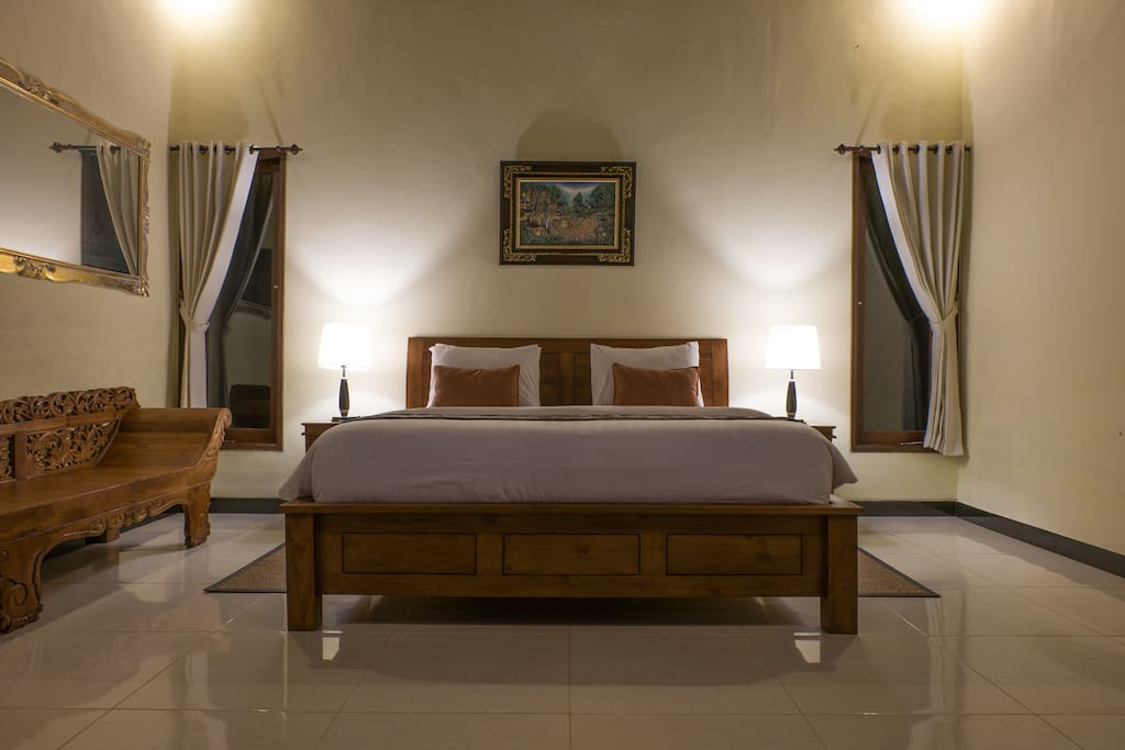 One of the Double Bedroom en-suite Bathroom, a traditional Balinese comfort