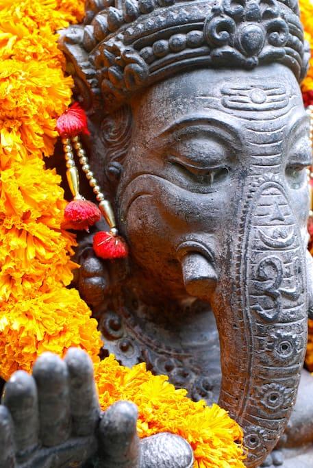 Ganesha greets you upon entry