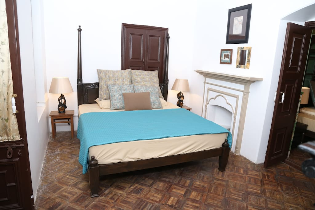 Inner room, with a full size double bed