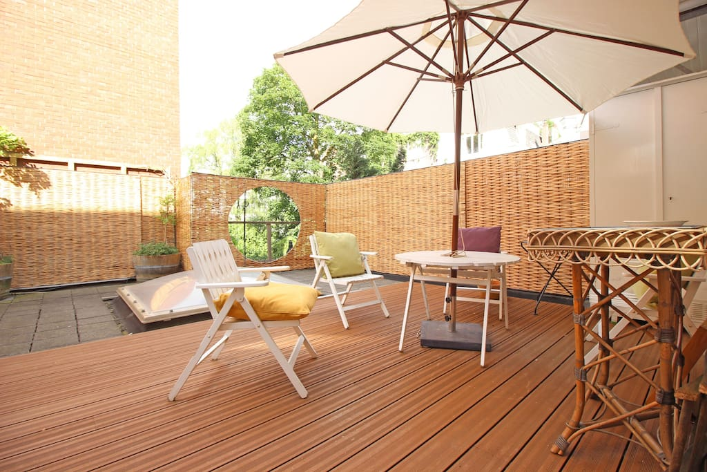 Enjoy the sun at your private terrace