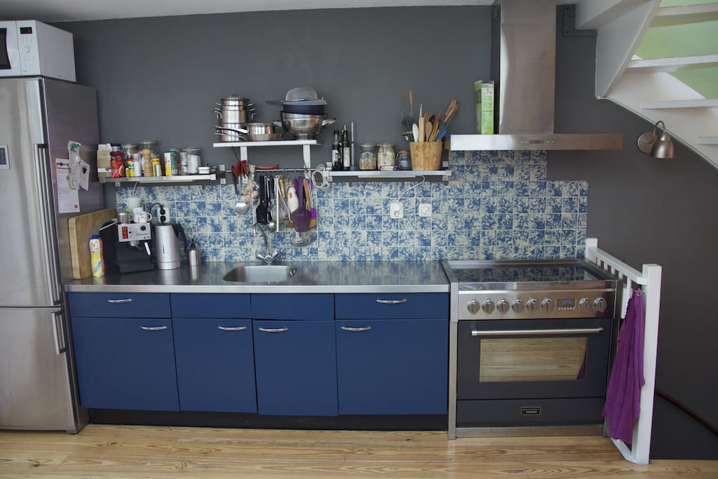 Kitchen with big oven