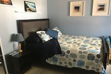 A cozy, quiet Blue room, with everything you need for your visit to San Diego!