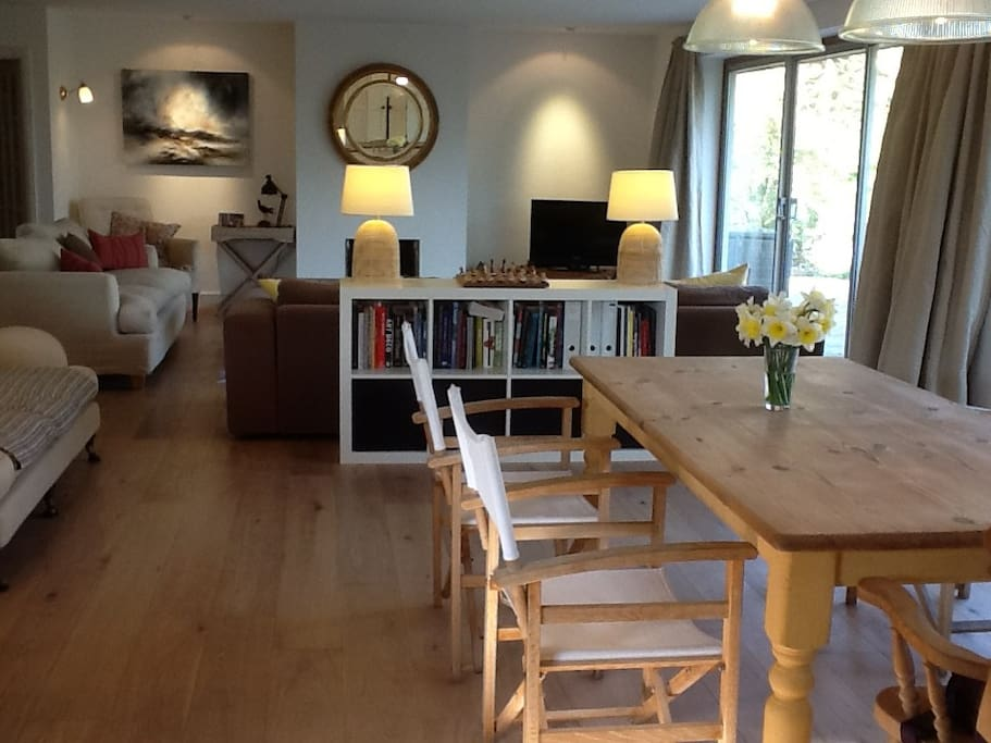 Open plan living dining space