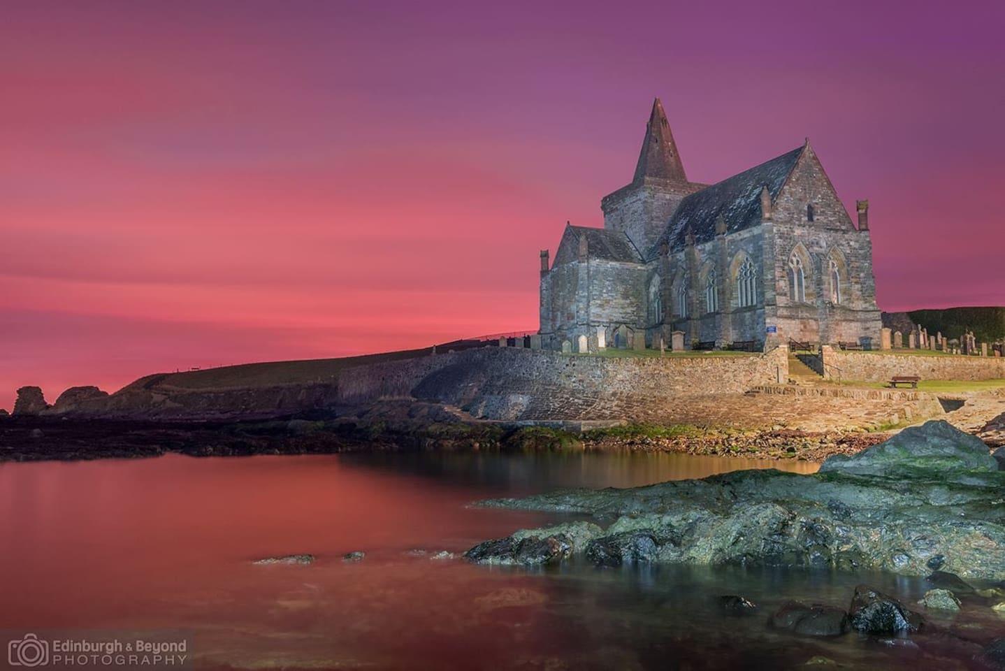 Historic church within village of St Monans
