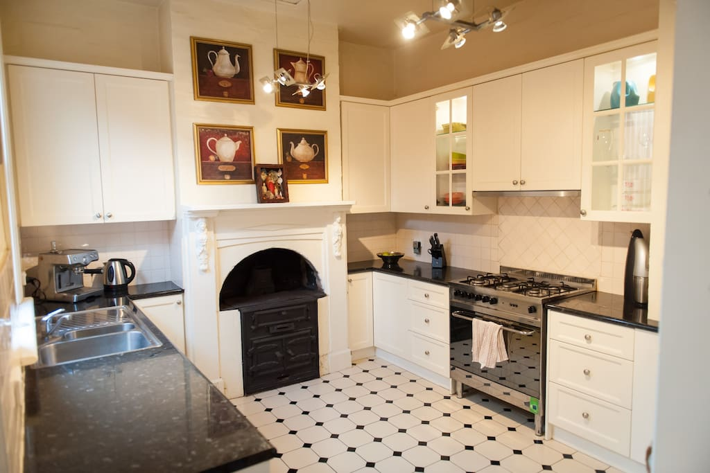 Old kitchen style with modern amenities