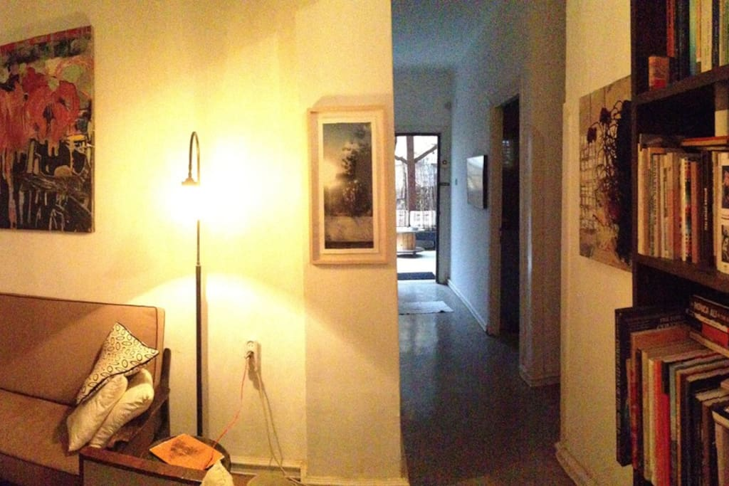 Panoramic view of the living room