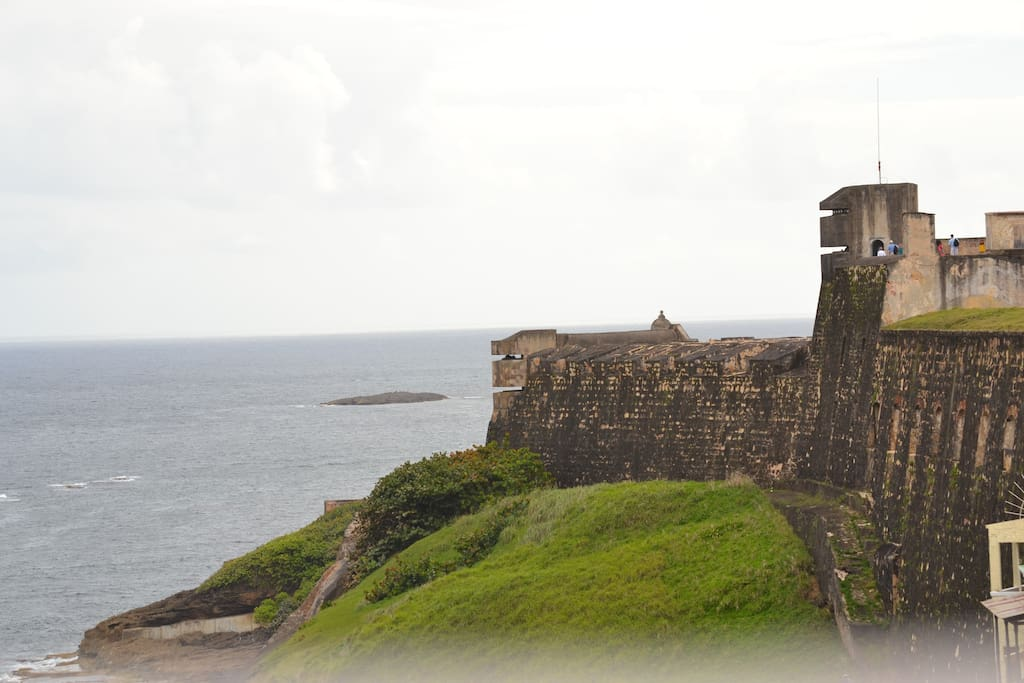 View of Fort San Cristobal from terrace.
